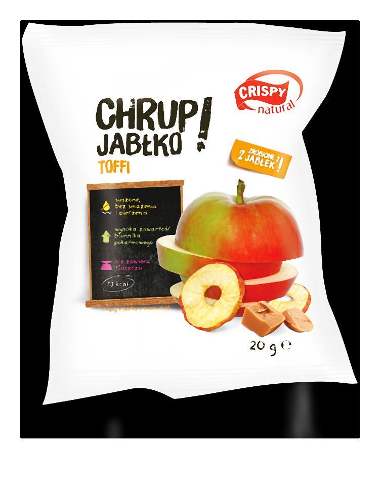 Paluszki, chipsy ziemniaczane także orzeszki wymieniamy gryzącymi, suszonymi chipsami owocowymi plus jarzynowymi.