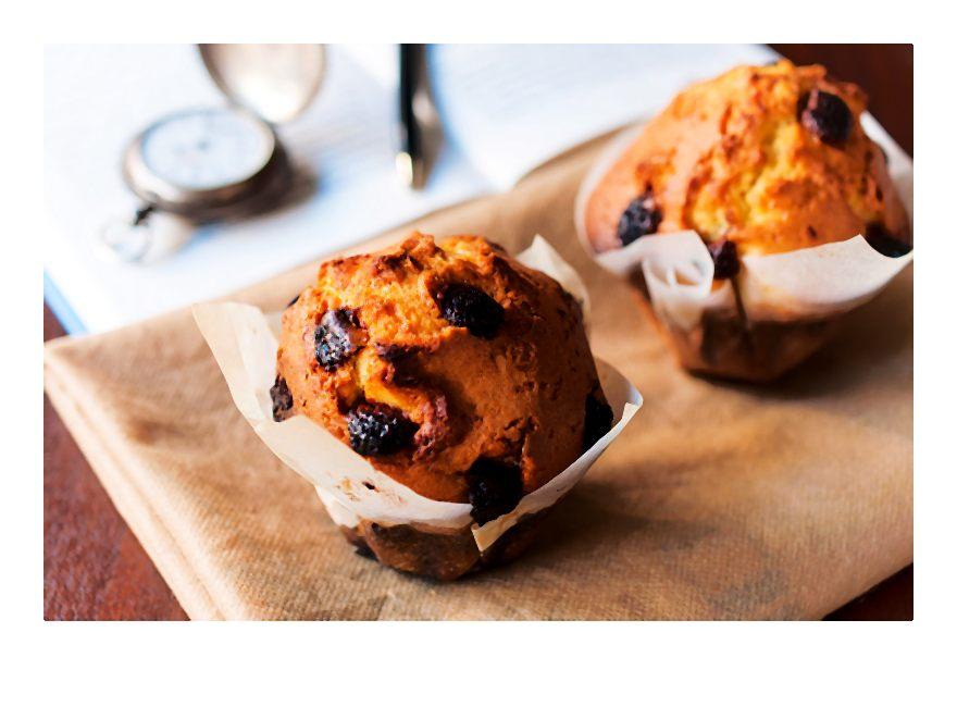 Przepis na jesienne muffiny z suszoną żurawiną