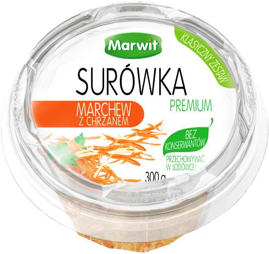 Surówka o smaku marchew z chrzanem