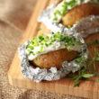Ziemniaki faszerowane z sosem tatarskim