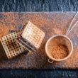Wafle z masą kakaowo – orzechową