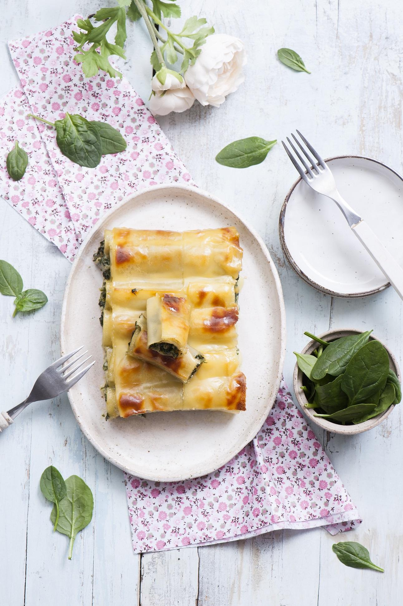 Cannelloni ze szpinakiem i kremowym serem