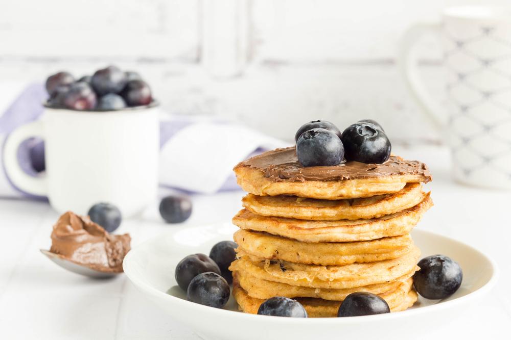 Amerykańskie pancakes z kremem sezamowym