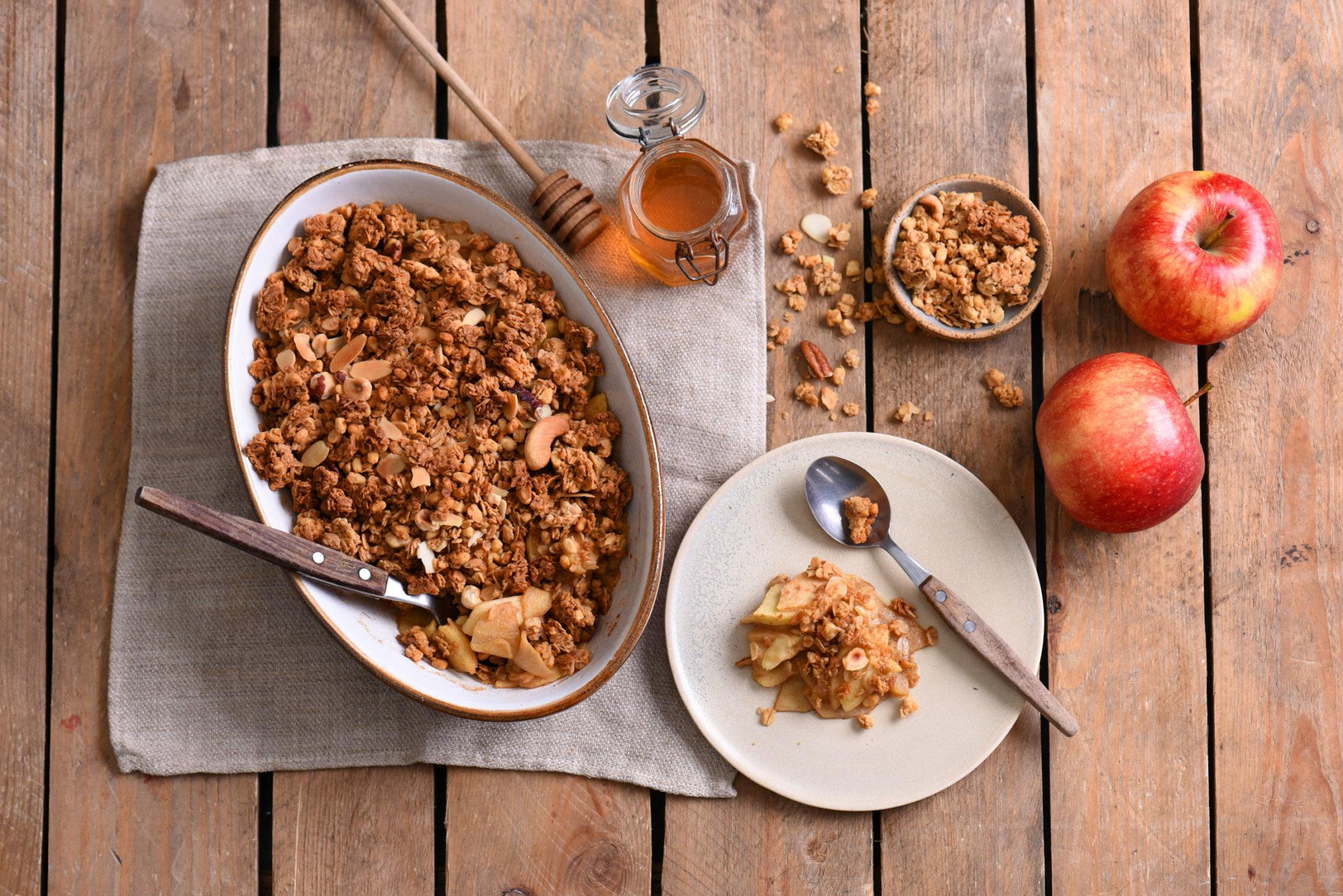 Złoty deser, Jabłkowe Crumble z Granolą Gold Sante