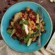 Sałatka z dorszem, warzywami i kaszą bulgur BIO