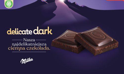 Jeszcze bogatsze doświadczenia smakowe z naszą nową najdelikatniejszą czekoladą Milka Delicate Dark